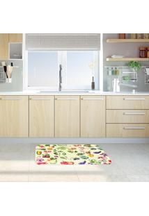 Tapete De Cozinha Mdecore Frutas E Verduras Bege 40X60Cm