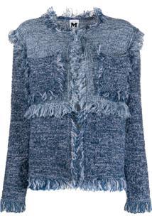M Missoni Frayed Edge Cardigan - Azul
