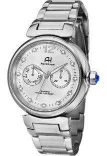 Relógio Feminino Ana Hickmann Ah30175Q - Unissex-Prata+Chumbo