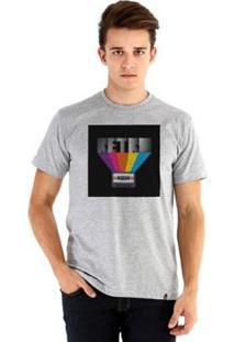 Camiseta Ouroboros Manga Curta Retro - Masculino-Cinza