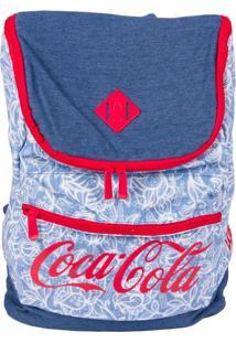 Bolsa Coca-Cola De Costas Lace Azul T Un
