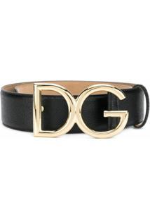 Dolce & Gabbana Cinto Dg De Couro - Preto