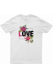 T-Shirt Feminina Love Dv011 Branca