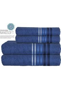 Toalha De Banho Dynamo- Azul Marinho & Azul Claro- 7Camesa