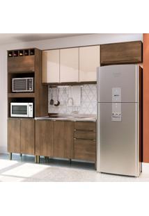 Cozinha Compacta Áustria 9 Pt 3 Gv Marrom