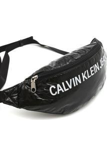 Pochete Calvin Klein Jeans Lettering Preta