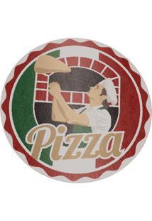 Tábua Para Pizza- Verde & Vermelha- Ø35Cm- Euro Euro Homeware