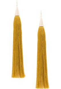 Eddie Borgo Long Tassel Earrings - Amarelo
