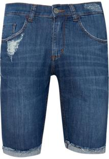 Bermuda John John Clássica Iorque Jeans Azul Masculina (Jeans Medio, 46)
