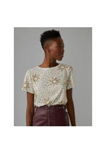 Amaro Feminino Camiseta Estampada Special, Solar