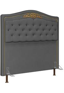 Cabeceira Cama Box Casal King 195Cm Imperial J02 Suede Chumbo - Mpozen