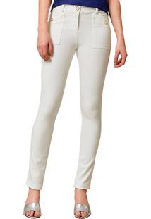 Calça Mx Fashion Skinny Donne Off White