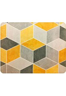 Tapete Illusion Yellow- Amarelo & Cinza- 125X90Cm