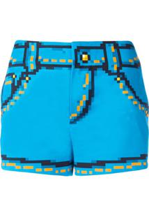 Moschino Short Estampado - Azul