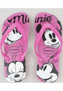 Chinelo Feminino Havaianas Minnie Rosa Pink