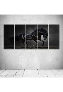 Quadro Decorativo - Horse Mane Animals Horses - Composto De 5 Quadros - Multicolorido - Dafiti
