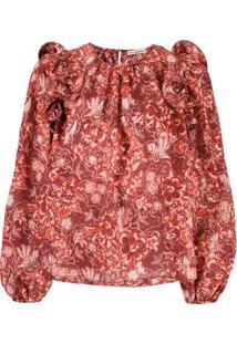 Ulla Johnson Blusa Com Estampa Floral - Vermelho