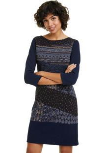 Vestido Curto Desigual Azul