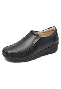 Sapato Feminino Anabela Conforto Mager - Preto
