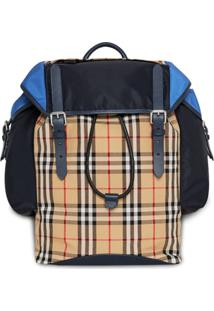 Burberry Mochila Color Block - Azul