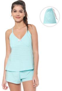 Pijama Malwee Liberta Liso Azul