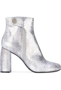 Stella Mccartney Ankle Boot 'Alter Snakes Skin' - Cinza