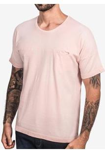 Camiseta Hermoso Compadre Manga Oversized Ulin - Masculino-Rosa