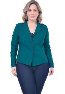 Blazer Plus Size Diva: Azul Petróleo: 46