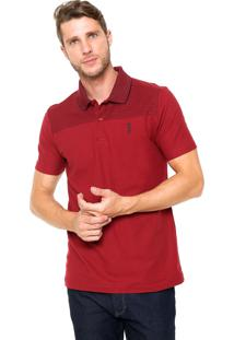 Camisa Polo Aleatory Comfort Vinho