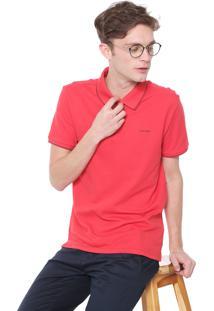 Camisa Polo Calvin Klein Reta Laranja