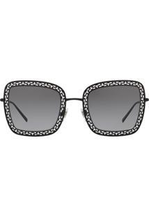 Dolce & Gabbana Eyewear Óculos De Sol Com Recortes Vazados - Preto