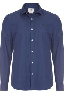 Camisa Masculina Índigo Chambray - Azul Marinho