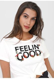 Camiseta Dzarm Feeling' Good Off-White - Kanui