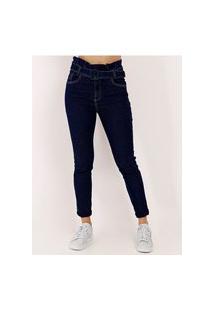Calça Jeans Clochard Feminina Azul