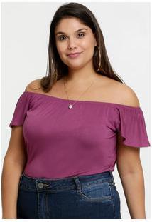 Body Feminino Ombro A Ombro Plus Size