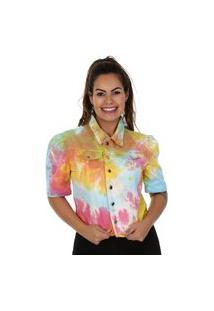 Jaqueta Sarja Tie Dye - 265604 - Estampado - Sawary