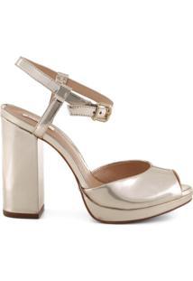 Sandália Gorgeous Block Heel Metallic | Schutz