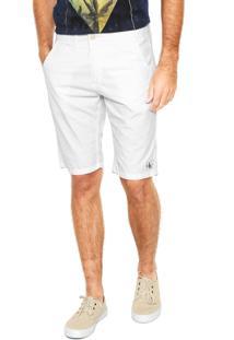 Bermuda Sarja Calvin Klein Jeans Chino Branca