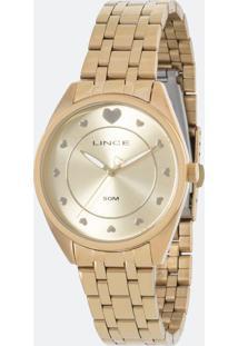 Kit Relógio Feminino Lince Lrgh075L Kv20C1Kx Analógico 5Atm + Conjunto Semijóia
