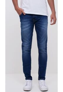 Calça Skinny Em Jeans Com Detalhe
