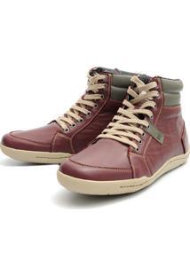 Bota Casual Magi Shoes Confortável Vinho