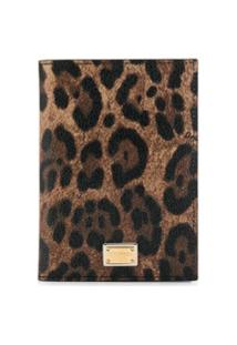 Dolce & Gabbana Carteira Animal Print - Marrom
