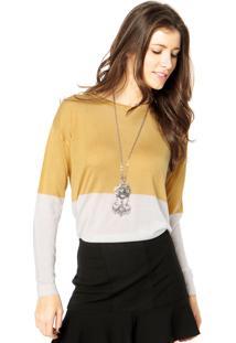Suéter Mng Barcelona Faixa Dourado
