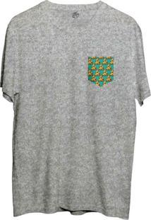 Camiseta Bsc Pizza Poa Pocket Sublimada Cinza