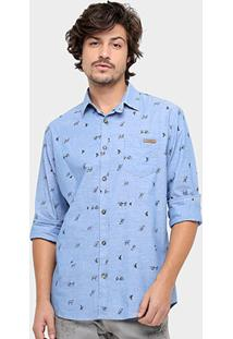 Camisa Colcci Manga Longa Estampada - Masculino