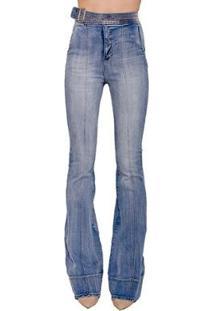 01d447590 ... Calça Jeans Flare Karen Colcci - Feminino-Azul