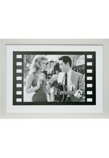 Quadro Contemporâneo Elvis 28 X 28 Cm Branco