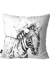 Capa De Almofada Decorativa Avulsa Branco Zebra 45X45Cm Pump Up - Branco - Dafiti