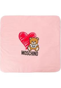 Moschino Kids Cobertor Com Estampa De Logo - Rosa