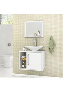 Gabinete Para Banheiro Com Cuba E Espelheira Baden Móveis Bechara Branco
